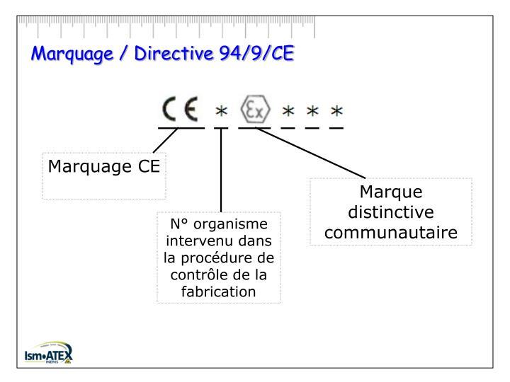Marquage / Directive 94/9/CE