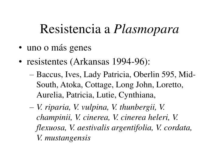 Resistencia a