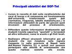 principali obiettivi del sof tel1