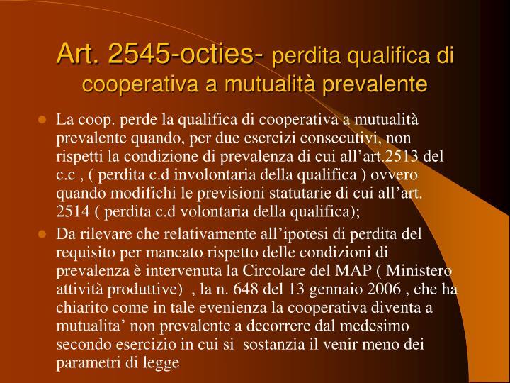 Art. 2545-octies-