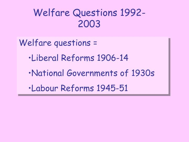 labour reforms 1945 1951 essay Free essay: the effects of the social reforms of the labour government of 1945-1951 the beveridge report was published in 1942 written by the liberal sir.