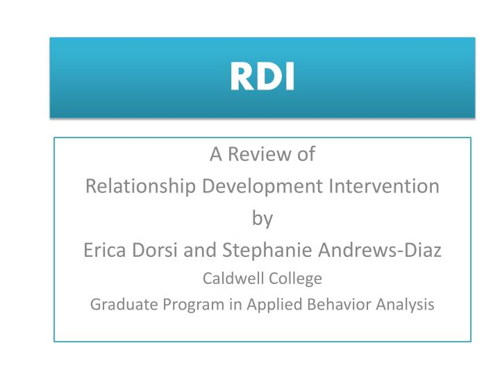 PPT - RDI PowerPoint Presentation - ID:1246666