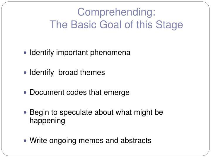 Comprehending: