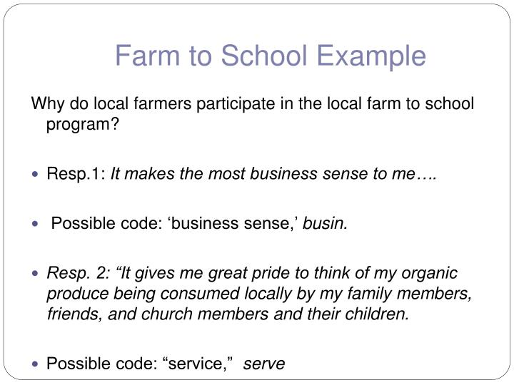 Farm to School Example
