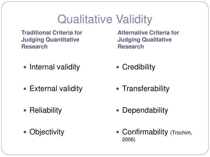 Qualitative Validity