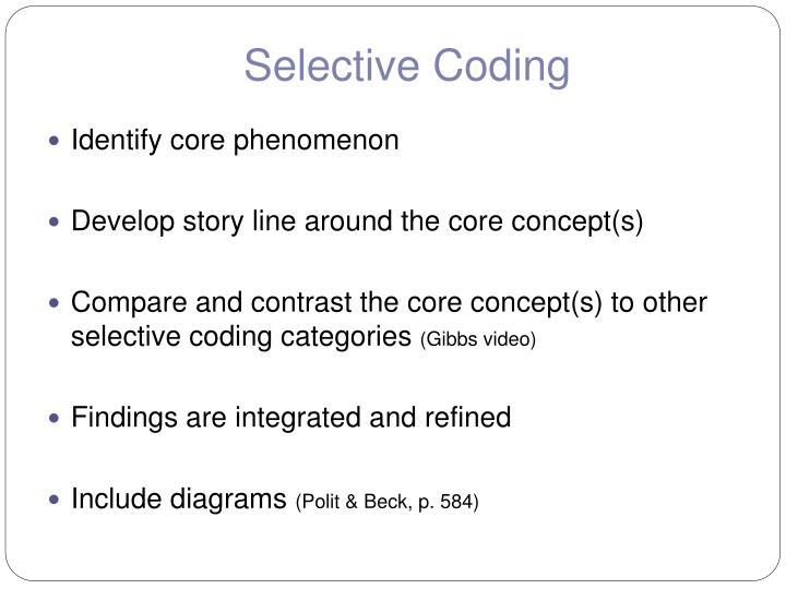 Selective Coding