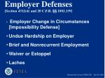 employer defenses section 4312 d and 20 c f r 1002 139