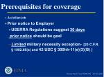 prerequisites for coverage5