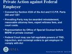 private action against federal employer