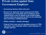 private action against state government employer