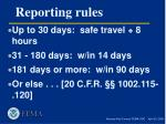 reporting rules