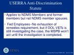 userra anti discrimination statute