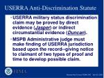 userra anti discrimination statute1
