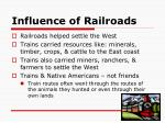 influence of railroads