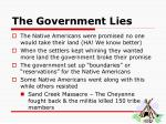 the government lies