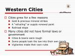 western cities