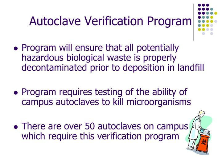 Autoclave Verification Program