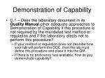 demonstration of capability