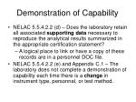 demonstration of capability1