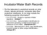incubator water bath records1