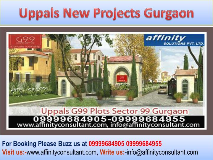 Uppals New Projects Gurgaon