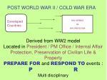 post world war ii cold war era