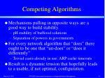 competing algorithms