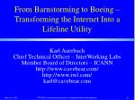 from barnstorming to boeing transforming the internet into a lifeline utility1