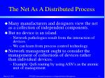 the net as a distributed process