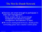 the not so dumb network