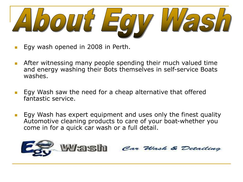 About Egy Wash