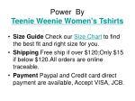 power by teenie weenie women s tshirts