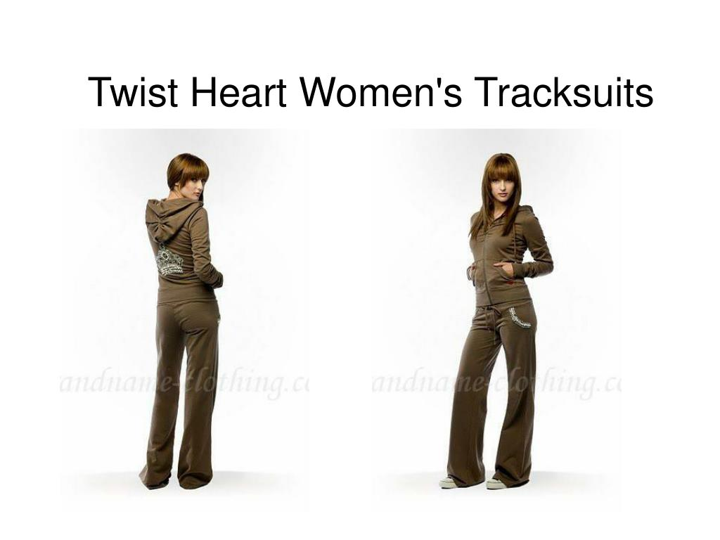 twist heart women s tracksuits l.