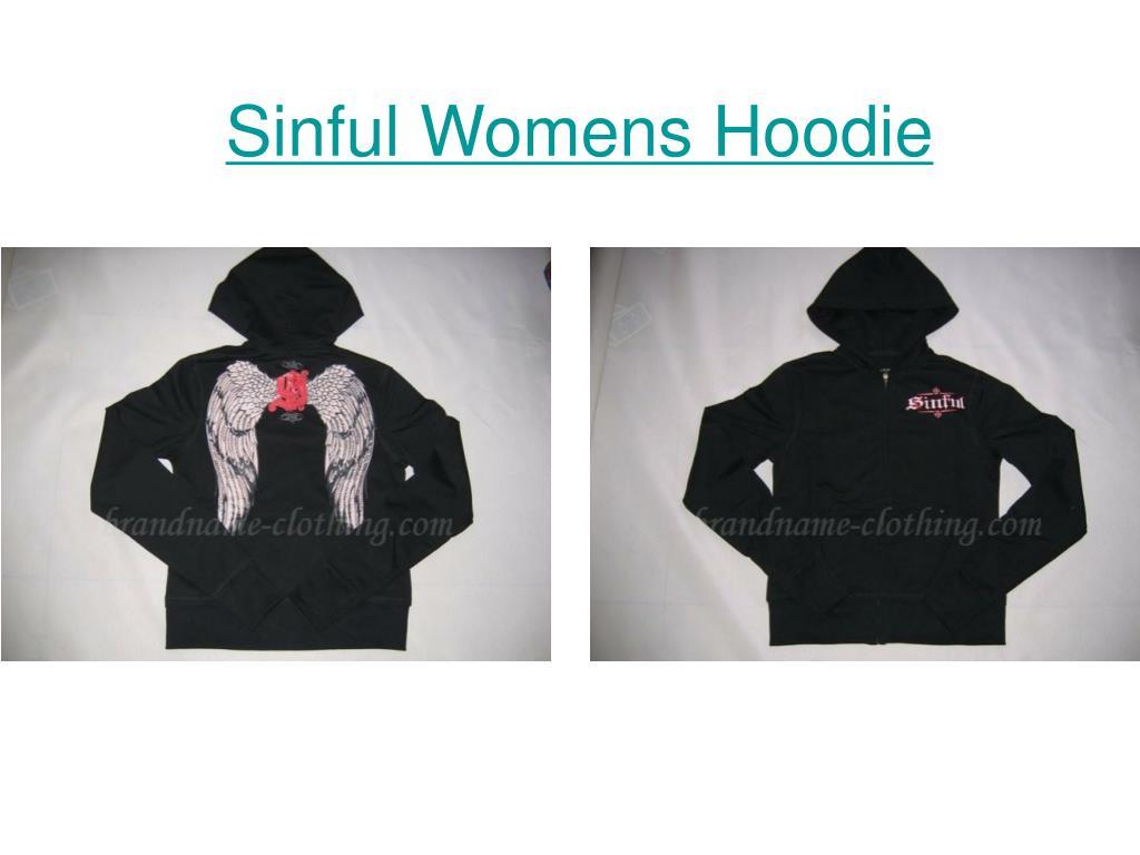 sinful womens hoodie l.