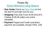 power by sinful womens long sleeve