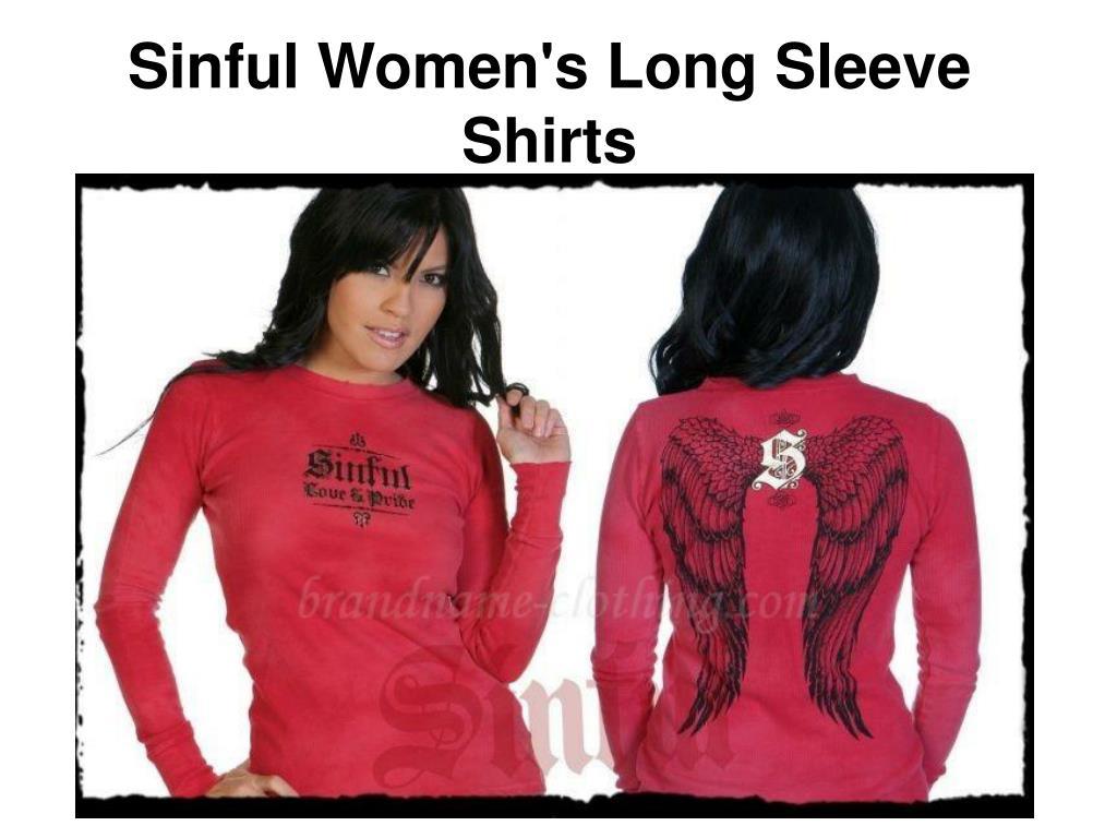 sinful women s long sleeve shirts l.