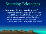 selecting telescopes