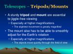 telescopes tripods mounts
