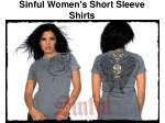 sinful women s short sleeve shirts4