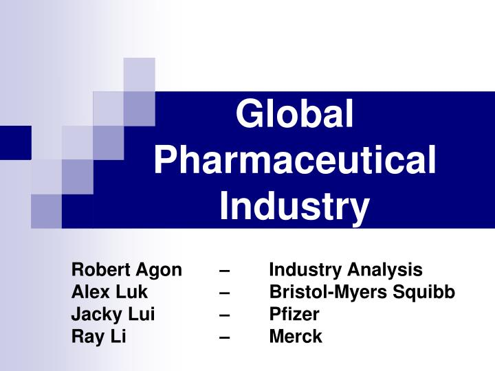 PPT - Global Pharmaceutical Industry PowerPoint Presentation