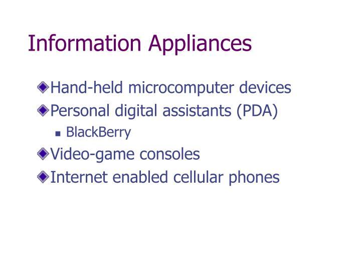 Information Appliances