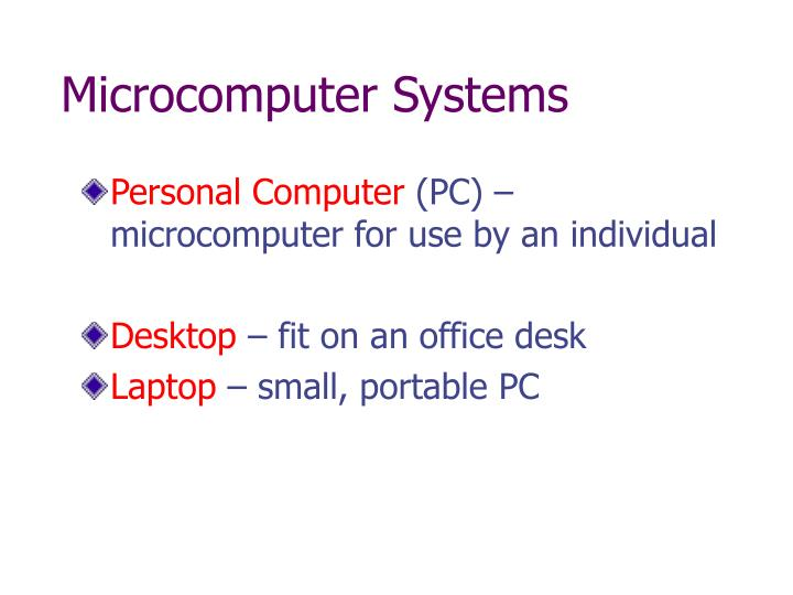 Microcomputer Systems