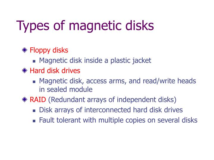 Types of magnetic disks