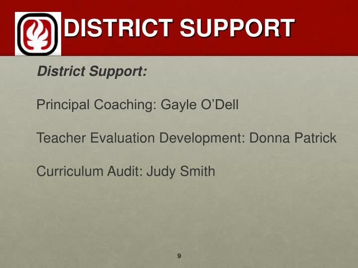 DISTRICT SUPPORT
