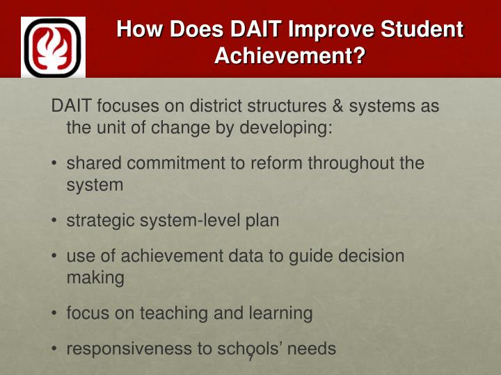 How Does DAIT Improve Student Achievement?