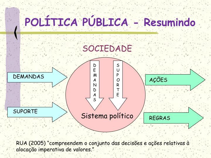 POLÍTICA PÚBLICA - Resumindo