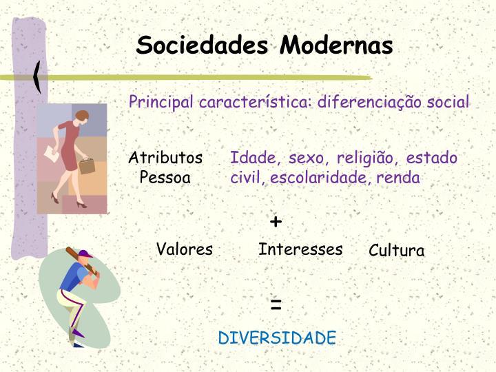 Sociedades modernas