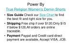 power by true religion women s demin shorts