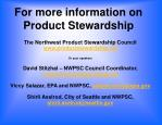 for more information on product stewardship