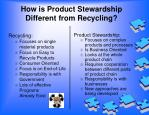 how is product stewardship different from recycling